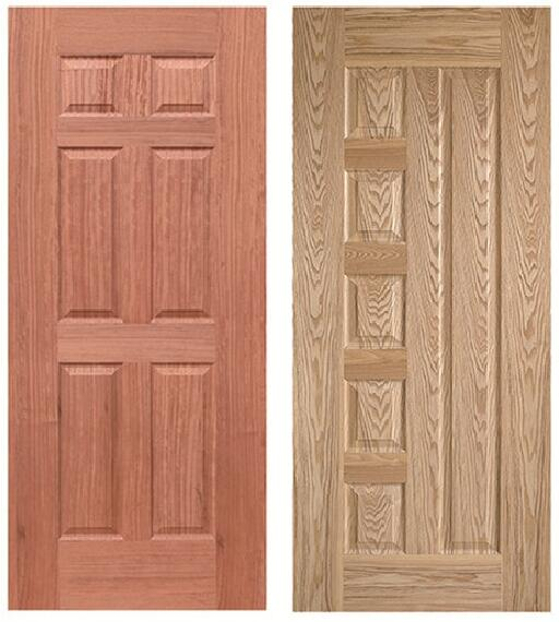 2018 new product 6 panel door skin red <strong>oak</strong> door skin