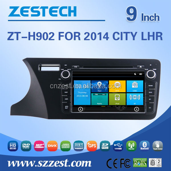 9 inch 2 din car radio for Honda city 2014 lhr car dvd player car dvd with 3G Wifi Mp3 player GPS DVD USB/SD