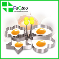 Round Stainless Steel Egg Mold Ring Cooking Fried Egg Shaper
