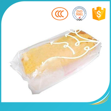 Customized cheap plastic cake box bag for toast packing