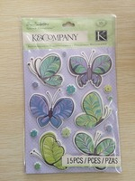 3D Butterfly Handmade Stickers