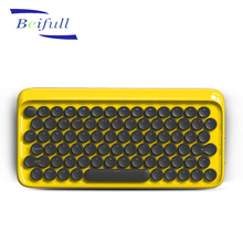 Retro style 78 keys bluetooth wireless mechanical keyboard for phone ipad tablet MAC