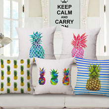 Pillow cases 2017 3D digital print pineapple latest design cushion cover decorative 45*45