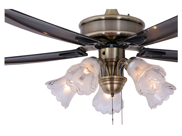Outdoor decorative classical 5 light large 56'' ceiling fans with remote lights