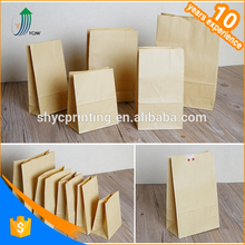 wholesale Custom greaseproof promotion high quality washable kraft paper bread bags