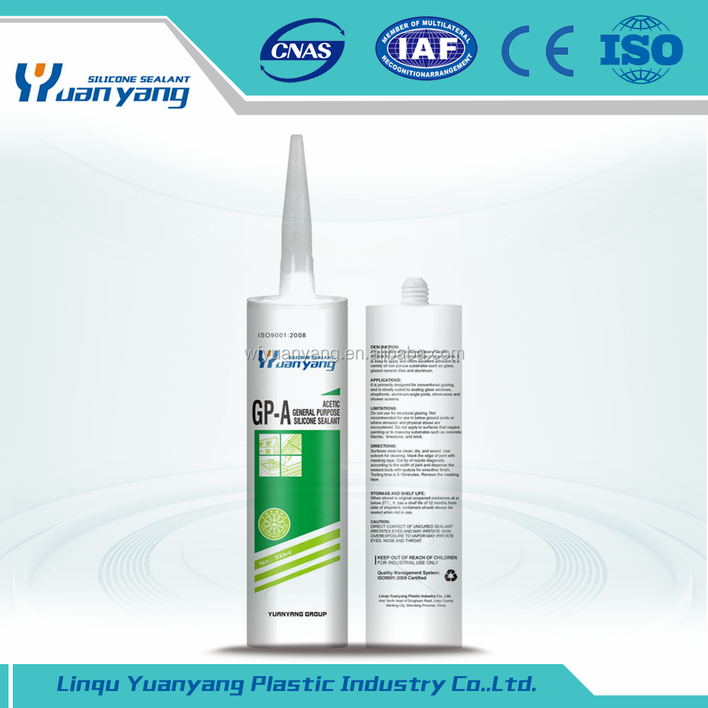Acid Solidified Silicone Sealant Acetic Silicone Glue