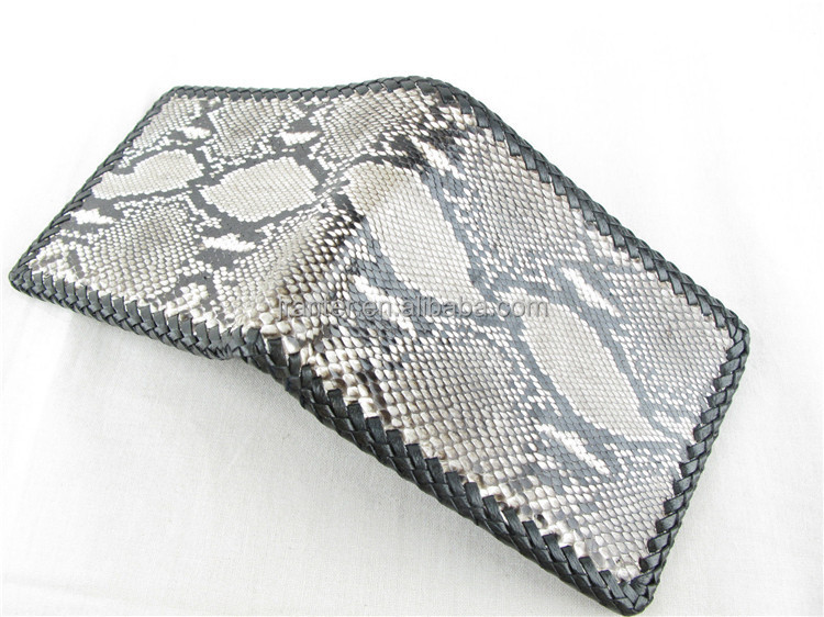 Jranter Factory Custom 100% Python Snakeskin Genuine Leather Card Holder Wallet