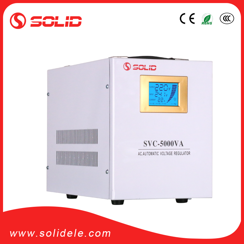 Solid electric svc avr 5kw automatic voltage stabilizer