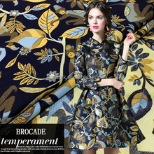 Wholesale brocade dress fabric jacquard woven party skirt fabric