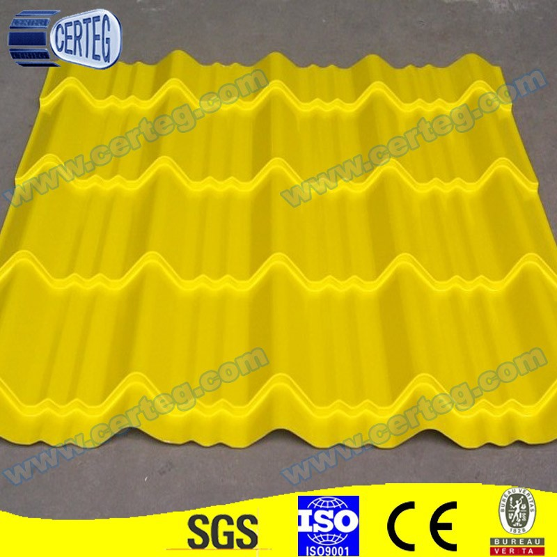 800MM Color Metal or Steel Roman Style Roof Tiles