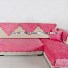 Single elegant red wicker indian sofa covers