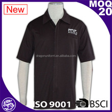 BSCI fashion black customized design cotton golf embroidery polo shirts