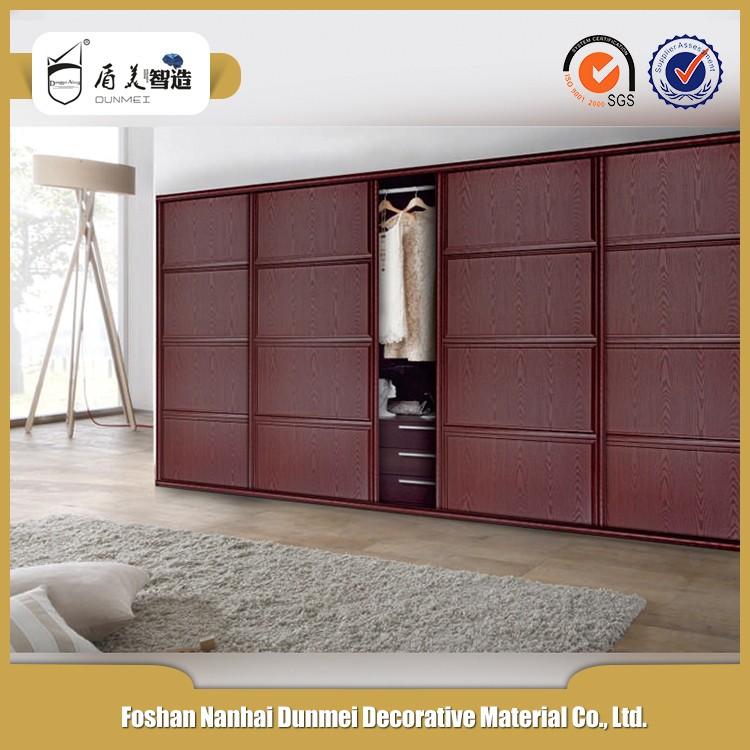 bedroom wardrobe shutter design in sliding door wooden