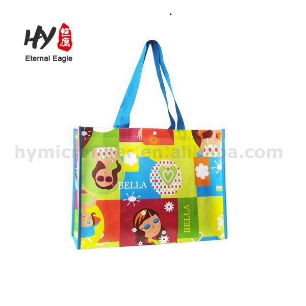 New fashional luxurious design non woven handle folding shopping bag