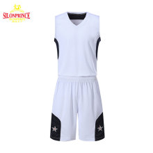 Silonprince new design sublimated logo 2018 customize wholesale blank basketball jerseys