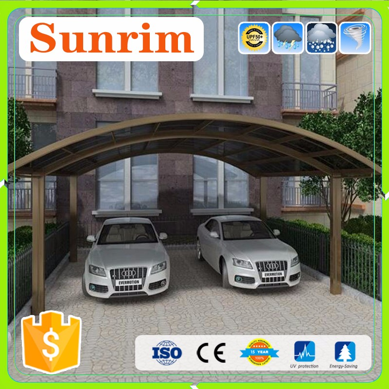 Aluminum 2 cars metal steel frame japanese double carport
