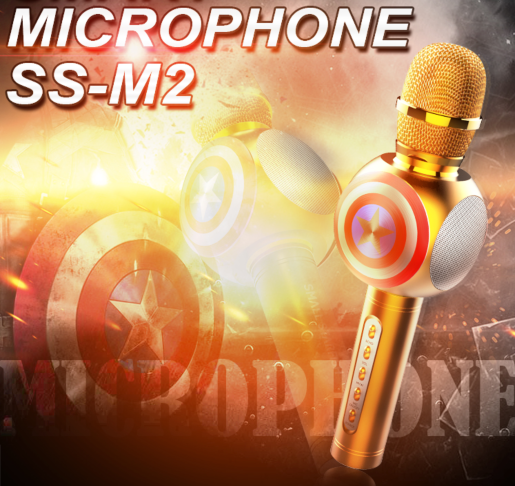 High Quality wireless Bluetooth Karaoke Microphone with USB