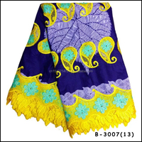 Latest Design Ankara african wax with guipure lace fabric for party High Quality wax mix lace fabric african cord lace with wax