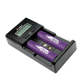 Soshine LCD H2 charger intelligent 2 slot 18650/AA AAA battery charger