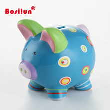 New products blue novelty pig shaped piggy banks for sale