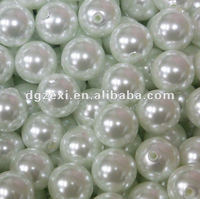 Faux Pearl shell Beads on a String Craft Roll Irridescent