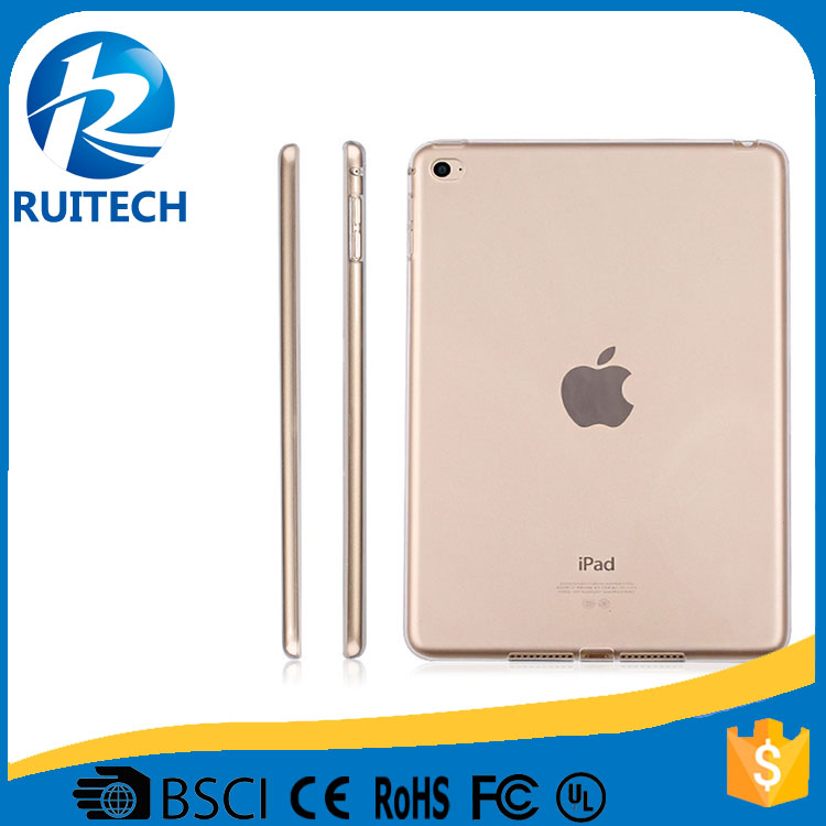 New Design TPU Cover Clear Transparent Case For iPad Pro