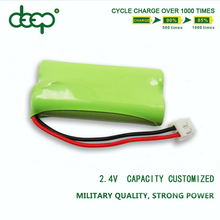 Low self-discharge NI-MH Type and AA Size 2.4v Ni-mh AA 600mAh battery 600ma aa rechargeable ni-mh battery 1.2v