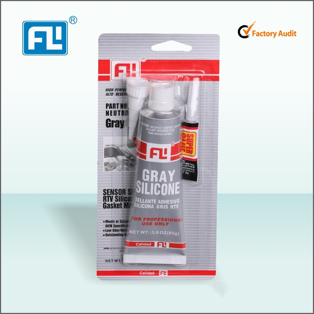 FL Trade Assurance high temperature neutral Gray RTV silicone sealant & gasket maker
