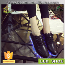 fashion casual men led lights for shoes, led shoes 2016 men casual shoes, night safety led flashing shoe light