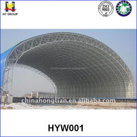 Large-span industrial space steel frame