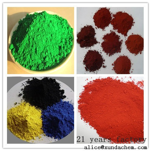 Iron Oxide Yellow/Red/Black/Brown/Green/Blue/Orange Pigment Manufacturer