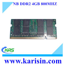 Full compatible 4gb pc2-6400 ddr2 sodimm 800mhz 200-pin laptop ram memory with free retail packing