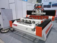 Hight-end used 4 axis wood carving cnc router machine for sale