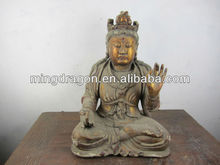 wooden buddha antique laughing buddha statue