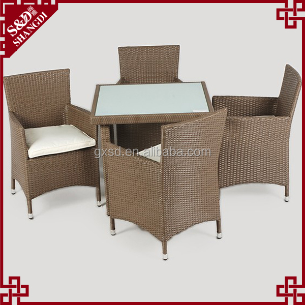Dining Room Furniture Rattan / wicker dining set table with chairs