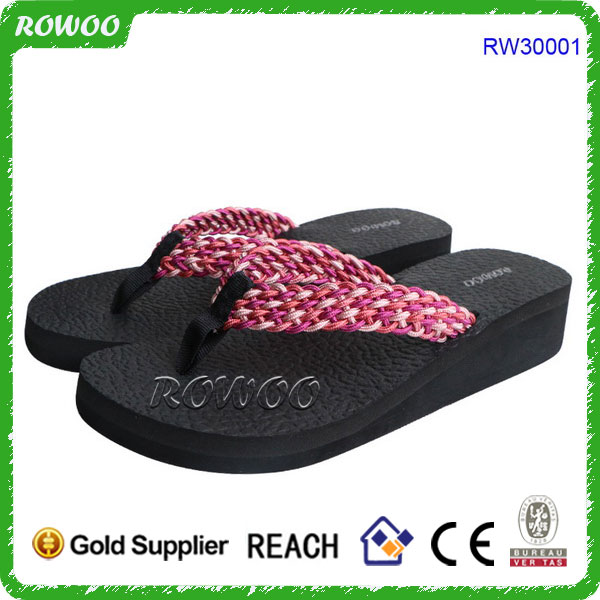 2018 Factory OEM Wedge Women Beach Flip Flops,Cheap Memory Foam Wholesale Fashion Flip Flop