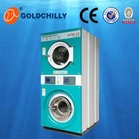 Hot sale commercial laundry washing machines double stack washer dryer