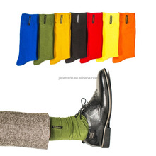 fashion mens socks combed cotton solid color business socks for man british style multi-colored week socks for men dress