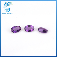 natural amethyst material oval cut gemstone shape natural Amethyst beads