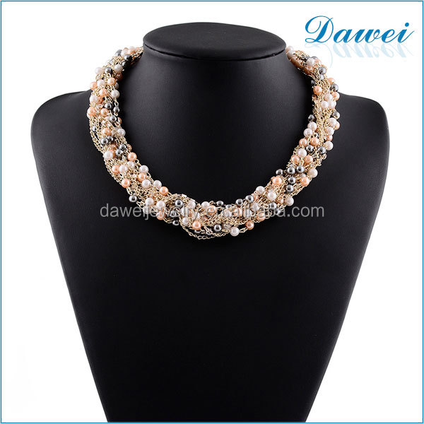 fashion new design chain bridal accessories high quality elegant jewelry wholesale pearl necklace