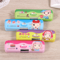 2016 china factory directly sale cute lovely plastic pvc creative multifunctional stationery pvc plastic pencil box case h605