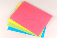 Wholesale stationery decorative fancy PP file folders with button
