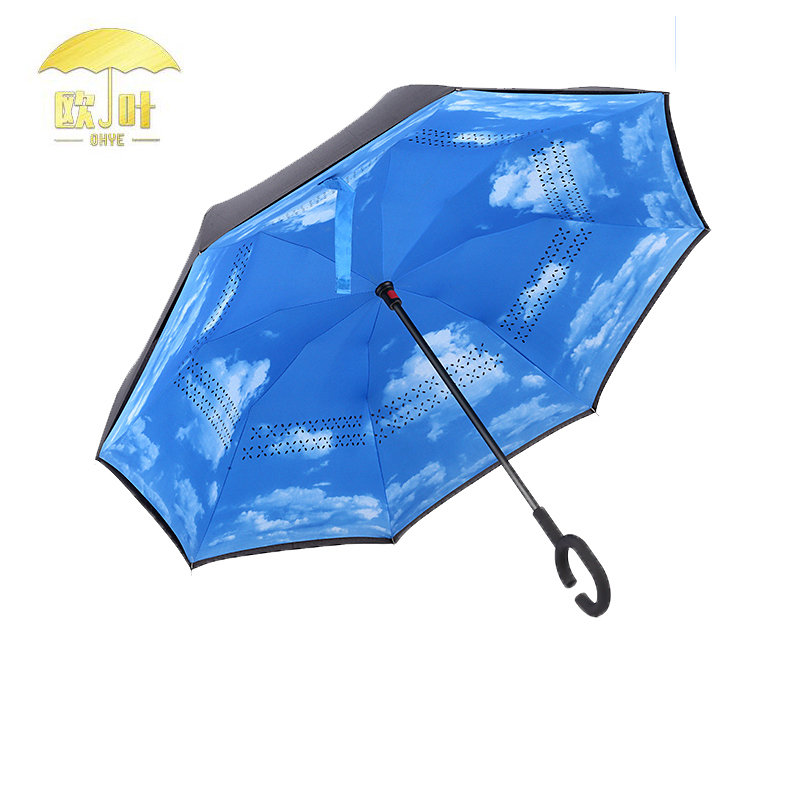 Hot sale fashion outdoor double sided deluxe under the blue umbrella