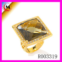 Fine Jewelry Logo Printed High Quality Yellow Topaz Ring Gemstone Price