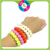 Food grade Baby chewing and Teething Silicone bead wristband