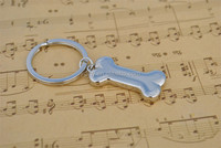 3D Fashion Metal Zinc Alloy Car Key Chain Charms Pendant Key Ring Dog Bone Keychain