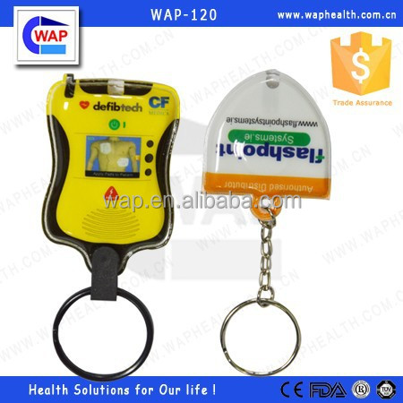 Trade Assurance WAP-health high quality AED promotion gift pvc keyring