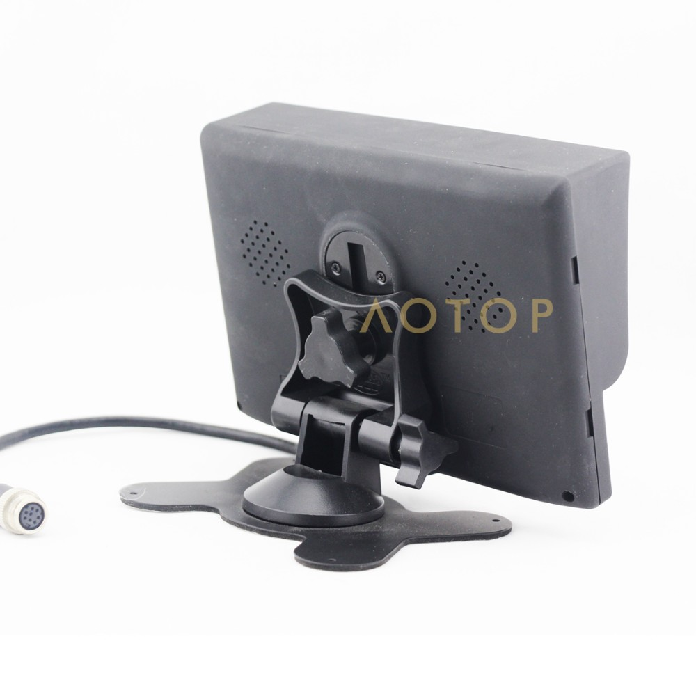 Crane monitor with 2 Channels Vedio Input 12V 24V Support 7 inch lcd monitor