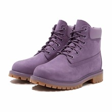 Wholesale PU hard sole purple flat fit comfort lace up marten baby girl booties shoes