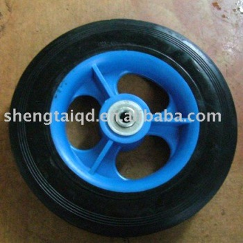 "solid rubber wheel 7""x1.75"""